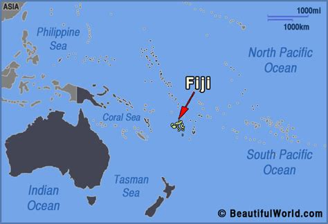 map  fiji facts information beautiful world travel