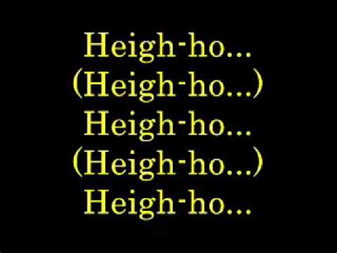 heigh ho lyrics youtube