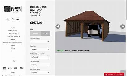 Garage Oak Configurator Customizable Cladding Include Elements