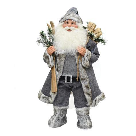 santa claus  skis  presents christmas