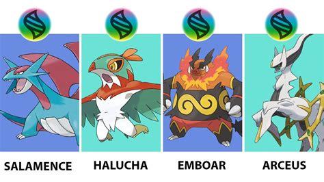 Pokemon Mega Evolution Halucha, Arceus, Emboar, Salamence