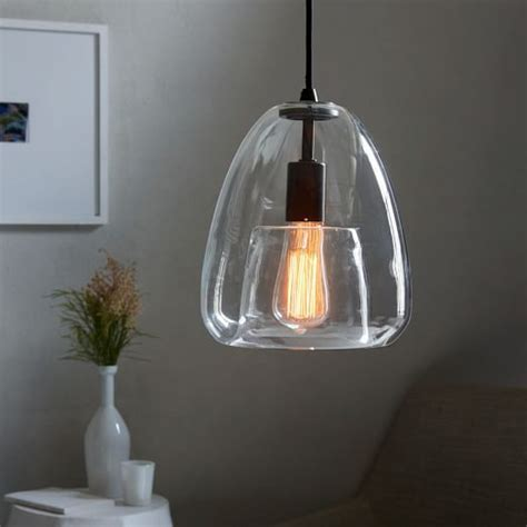 duo walled pendant single light west elm