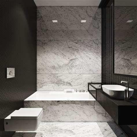 Modern Marble Bathroom by M Townhouse By Igor Sirotov Architect Bathroom Marble