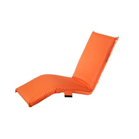 sunjoy adjustable orange outdoor lounge chair cushion