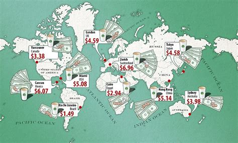 price   starbucks latte   countries revealed