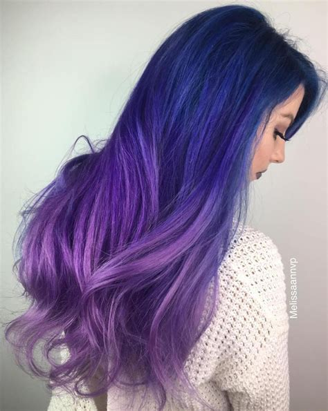 40 Fairy Like Blue Ombre Hairstyles Purple Ombre Hair