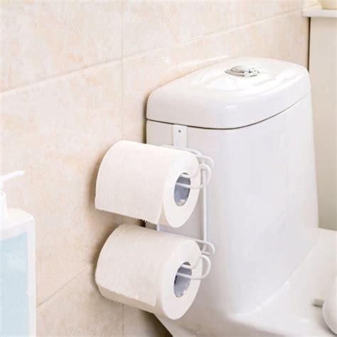 kitchen paper organizer bathroom toilet seat roll paper holder hanging organizer 2 2419