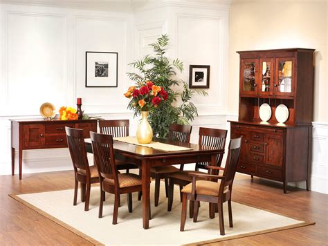 newport shaker dining room amish furniture designed