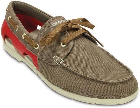 Crocs Boat Shoes Online by Crocs Beach Line Lace Up M Boat Shoe For Men Buy Brown