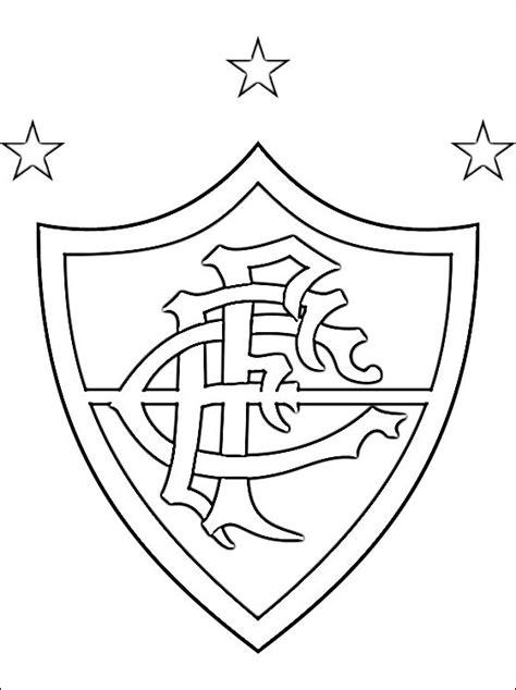 Brazilie Vlag Kleurplaat by Kleurplaat Fluminense Fc Logo Gratis Kleurplaten