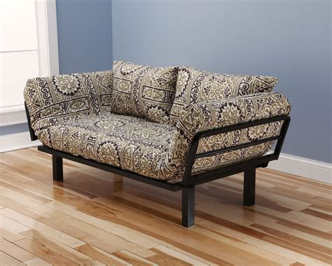 lounger futon spacely futon daybed lounger with mattress by kodiak