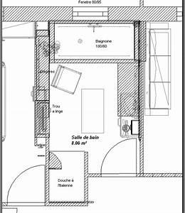 Plan Salle De Bain 4m2 : besoin de conseil sur agencement de notre salle de bains ~ Dailycaller-alerts.com Idées de Décoration