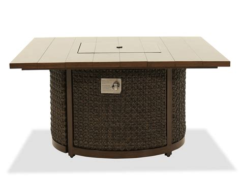 Best fit pit tables infographics: Woven Fire Pit Coffee Table in Ebony | Mathis Brothers ...