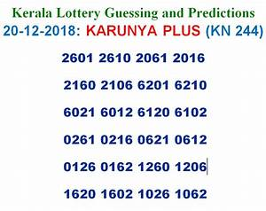 Kerala Lottery Chart Download 2018 20 12 2018 Karunya Plus Lottery Kn 244 Results Today