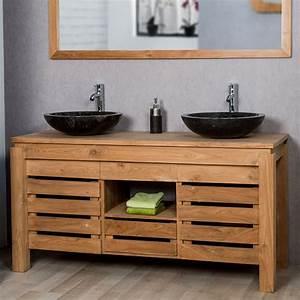 Reducteur De Baignoire Pas Cher : meuble salle bain bois exotique on galerie et meuble salle ~ Dailycaller-alerts.com Idées de Décoration