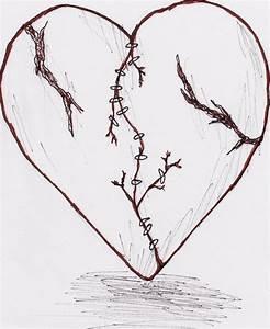 Emo Heart Drawings | Broken Heart Tattoo By Weirdanime On ...