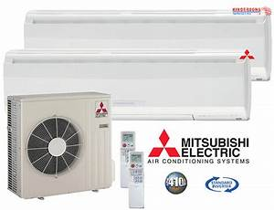 20000 Btu Mitsubishi Mr Slim Ductless Mini Split Air
