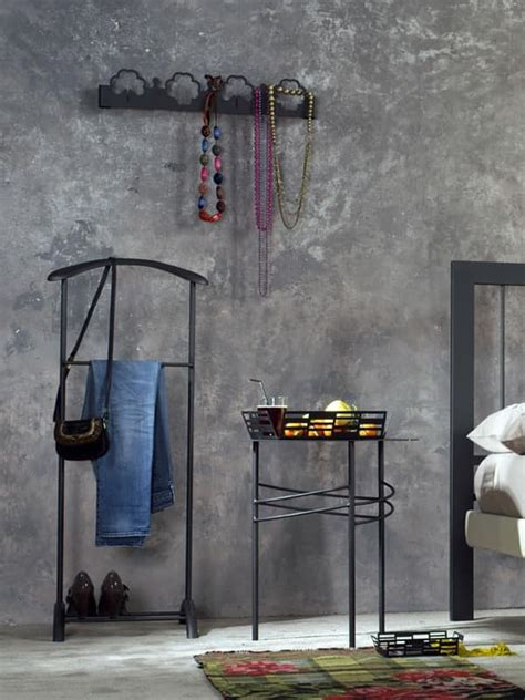 Valet Stand In Painted Metal, For Bedroom Idfdesign