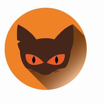 Cat Icon Face Round Transparent Svg Vector