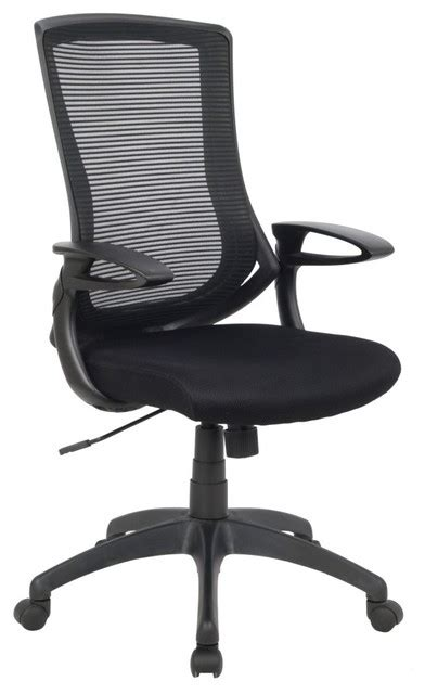 high back adjustable mesh office chair black