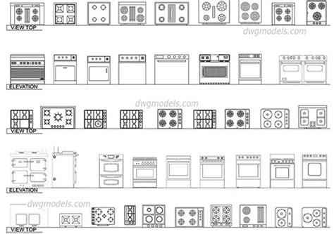 interiors equipment dwg models