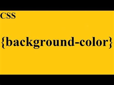 css   background color youtube
