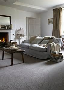 Carpet with Grey Walls Living Room