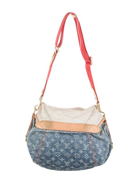 louis vuitton monogram denim sunshine bag handbags