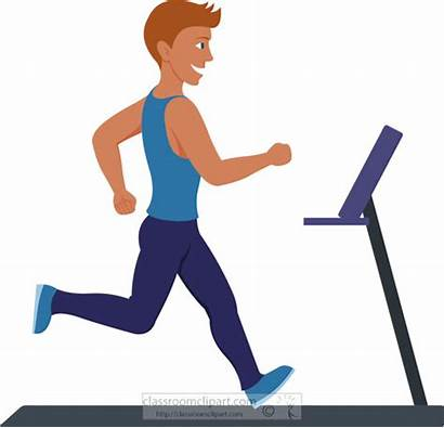 Clipart Exercise Running Treadmill Fitness Clip Workout