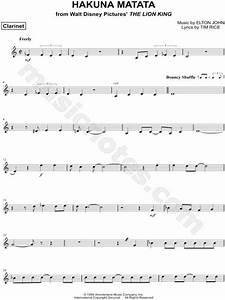 """Hakuna Matata - Clarinet"" from 'The Lion King' Sheet ..."
