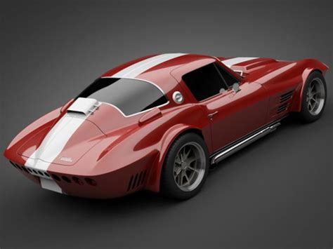 1965 grandsport corvette sports car 3d model re pin