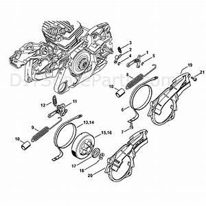 Stihl Ms 261 Chainsaw  Ms261 Z  Parts Diagram  Chain Brake