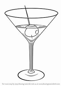 Learn How to Draw a Martini (Drinks) Step by Step ...