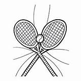 Tennis Coloring Pages Printable Ball Rackets sketch template