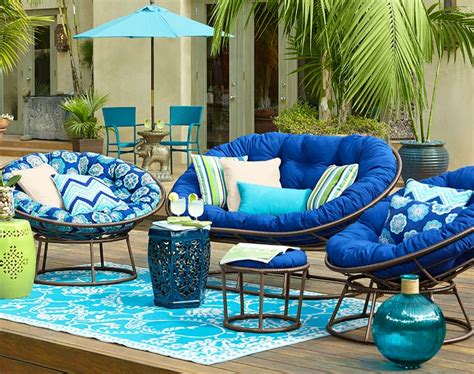 outdoor mocha papasan chair frame the balcony