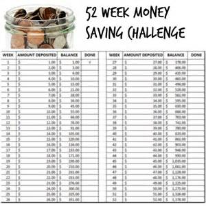 52 Week Money Saving Challenge 2017