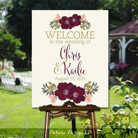 Wedding Signs by Wedding Welcome Sign Printable Printable Diy Large Custom