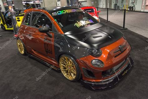 Fiat 500 Tuning by Fiat 500 Tuning On Display Stock Editorial Photo
