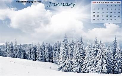 January Wallpapers Desktop Winter Calendar Screensavers Backgrounds