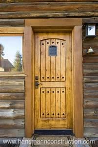 Log, Cabin, Exterior, Doors