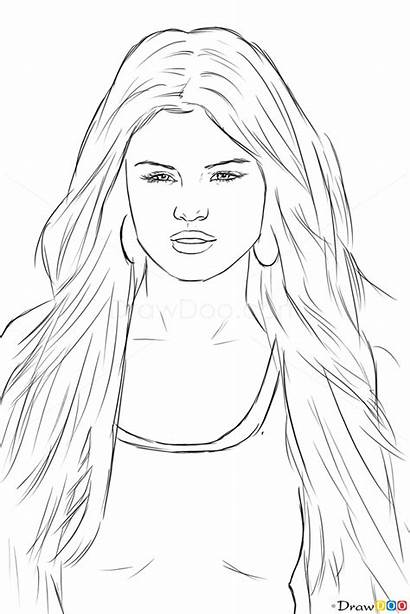 Selena Gomez Draw Celebrities Drawing Drawings Famous