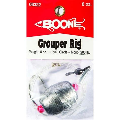 fishing 8oz rigs lure grouper boone hook circle piece