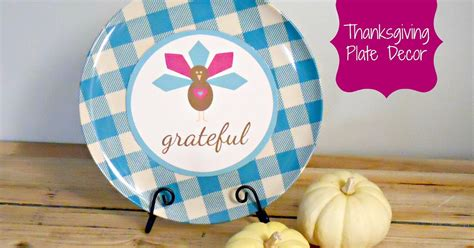 mod podge craft simple diy thanksgiving plate delightfully noted