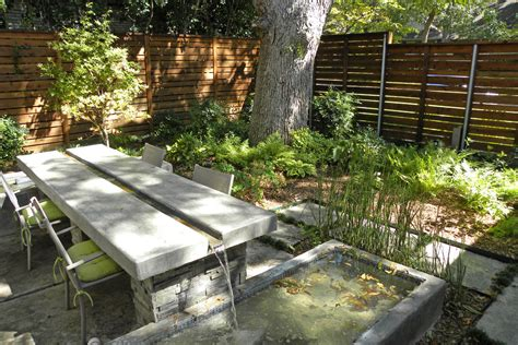 concrete dining table patio modern with concrete outdoor