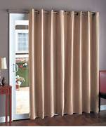 Blackout Patio Curtain Covers A Patio Door Or A Pair Of French Doors Windows Curtains Treatment Patio Door Grommet Drapes Home Decor EBay Back Tab Curtain Panel Glasgow Grommet Curtain Panel Sausalito Rod Set Insulated Thermal Patio Door CurtainsHome Design Ideas Curtains