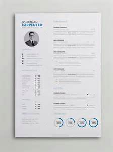 Resume Templates Simple Clever Resume With Charts Word Psd