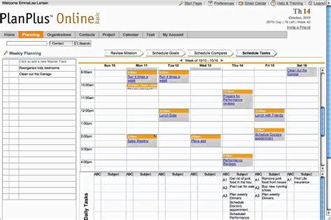 planplus schedule weekly tasks planning software