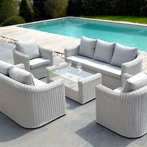 But Salon De Jardin : salon de jardin capri blanc perle 7 places salon de ~ Melissatoandfro.com Idées de Décoration