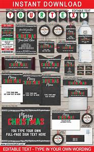 Christmas Chalkboard Printables, Party Invitations