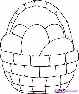 How To Draw An Easter Basket, Step by Step, Easter ...